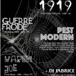 Soirée 1919 + GUERRE FROIDE + PEST MODERN + WARUM JOE + DJ FABRICE à PARIS @ Gibus Live - Billets & Places