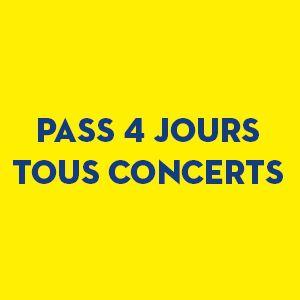 Pass 4 Jours - Tous Concerts
