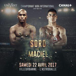 Match BOXE CHAMPIONNAT WBA INTERNATIONAL - SORO VS MACIEL à Villeurbanne @ Astroballe - Billets & Places