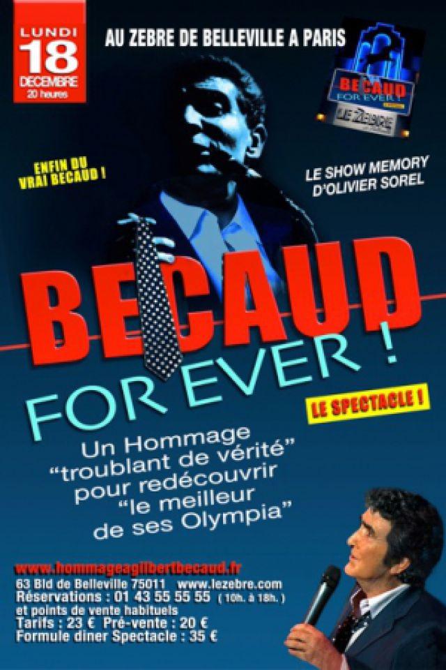 BECAUD FOR EVER : Olivier SOREL @ Le Zèbre de Belleville - PARIS