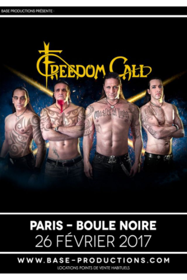 Concert FREEDOM CALL à PARIS @ La Boule Noire - Billets & Places