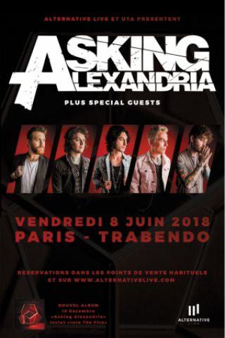Concert ASKING ALEXANDRIA + GUESTS à Paris @ Le Trabendo - Billets & Places
