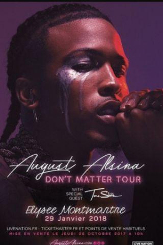 Concert AUGUST ALSINA à PARIS @ ELYSEE MONTMARTRE PARIS - Billets & Places