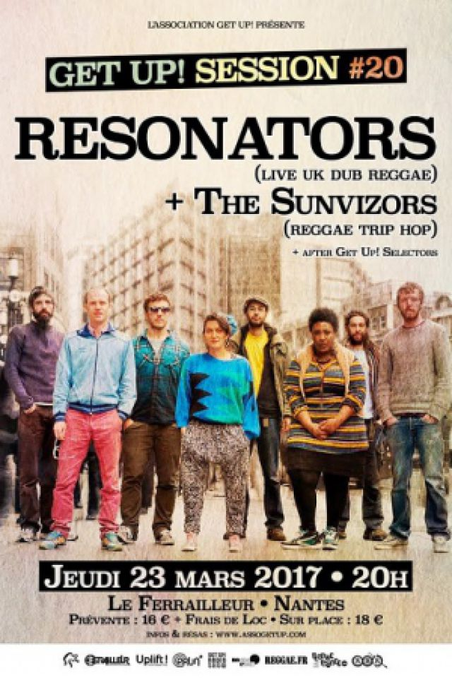 Concert GET UP SESSION #20 : RESONATORS (Uk) + THE SUNVIZORS (Fr) à Nantes @ Le Ferrailleur - Billets & Places