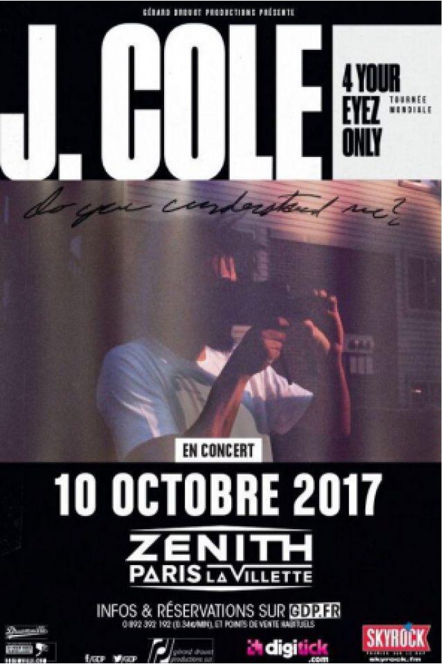 Concert J.COLE à Paris @ Zénith Paris La Villette - Billets & Places