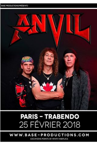 "Concert ANVIL ""Pounding The Pavement Tour 2018"" + Guest à Paris @ Le Trabendo - Billets & Places"