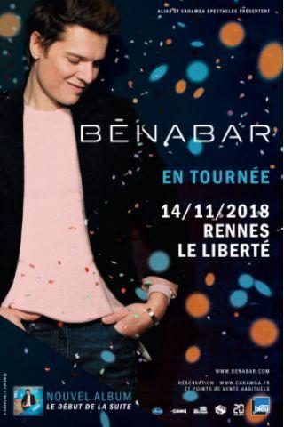 Billets BENABAR - Le Liberté