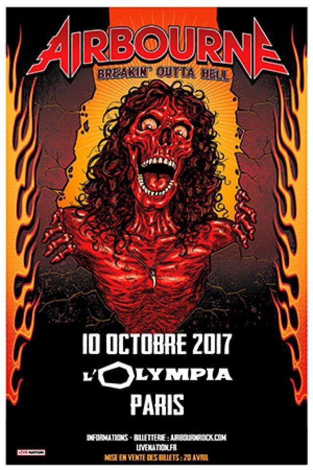 Concert AIRBOURNE  à Paris @ L'Olympia - Billets & Places