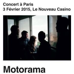 Concert MOTORAMA à Paris @ Le Nouveau Casino - Billets & Places