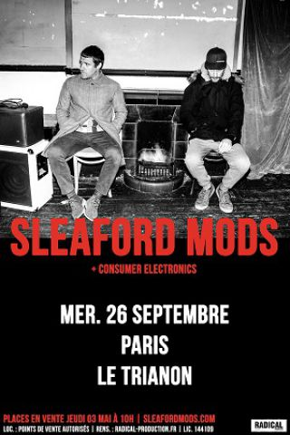 Billets SLEAFORD MODS - Le Trianon