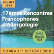 17EMES RENCONTRES FRANCOPHONES D'ALLERGOLOGIE