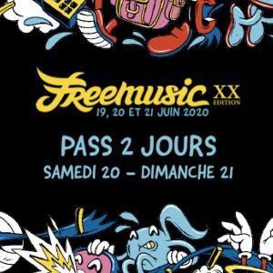 Freemusic 2020 - Pass 2 Jours (Samedi - Dimanche)