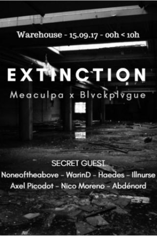 Soirée Extinction : Meaculpa 1st Birthday @ Secret Location - Billets & Places