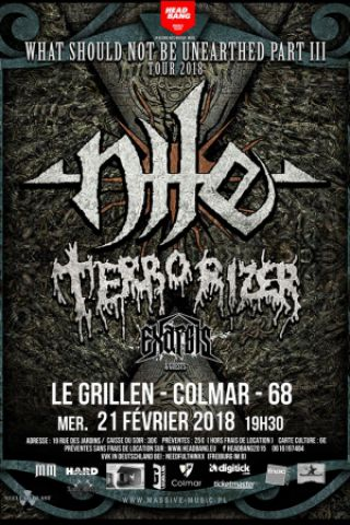 Concert NILE + TERRORIZER au Grillen à COLMAR @ Le GRILLEN - Billets & Places