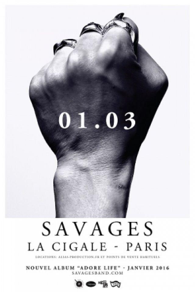 Concert SAVAGES +1ère partie à Paris @ La Cigale - Billets & Places