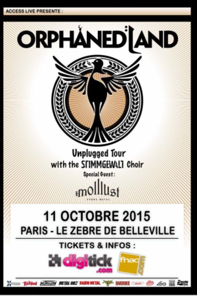 Concert ORPHANED LAND - Acoustic Tour 2015 @ PARIS - Le Zèbre @ Le Zèbre de Belleville - Billets & Places