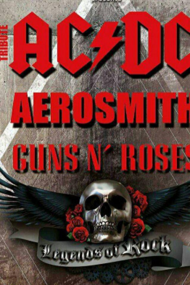 Concert LEGENDS OF ROCK (TRIBUTE AC/DC, AEROSMITH, GUNS N'ROSES) à TALENCE @ La Médoquine Bordeaux - Billets & Places