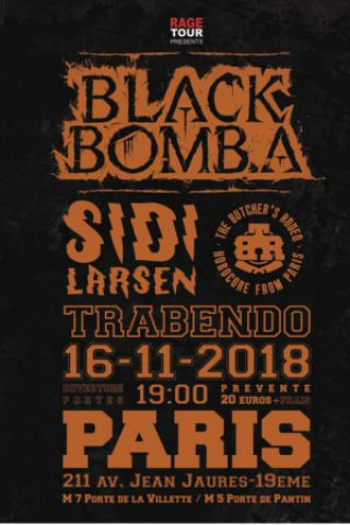 Billets BLACK BOMB A + SIDILARSEN + BUTCHER'S RODEO - Le Trabendo