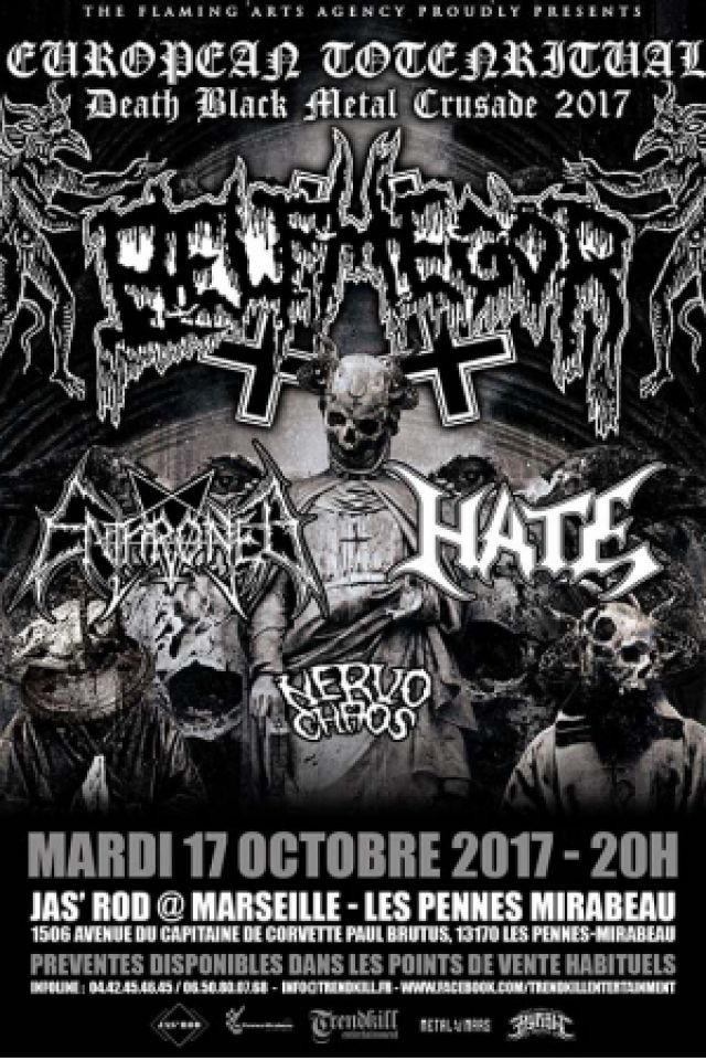 BELPHEGOR + ENTHRONED + HATE + NERVO CHAOS  @ Jas'rod  - Pennes Mirabeau