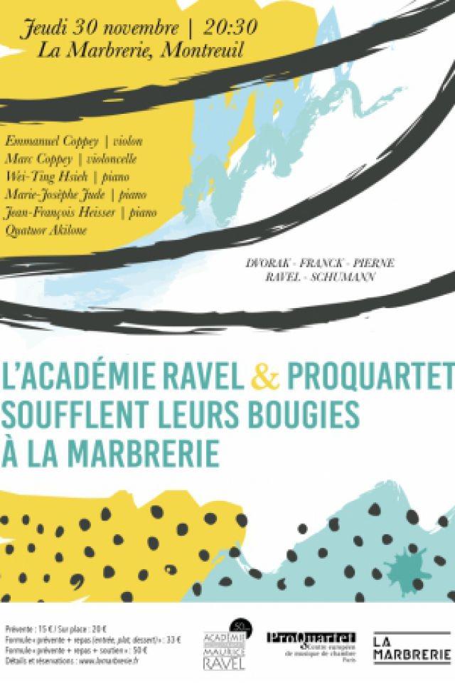 L'Académie Ravel et ProQuartet soufflent leurs bougies @ La Marbrerie - MONTREUIL