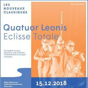 QUATUOR LEONIS - ECLISSE TOTALE @ Auditorium - La Seine Musicale - BOULOGNE BILLANCOURT