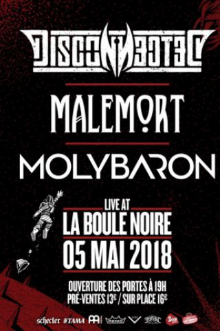 Concert DISCONNECTED + MALEMORT + MOLYBARON