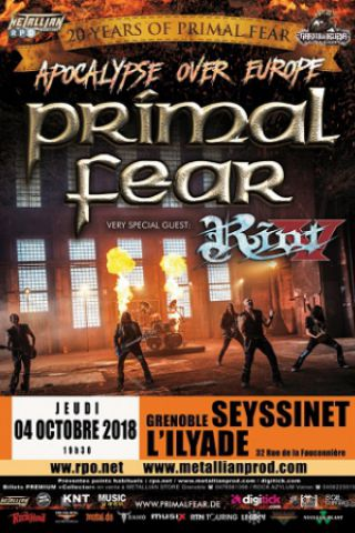 Concert PRIMAL FEAR / RIOT V à SEYSSINET PARISET @ L'ILYADE - Billets & Places