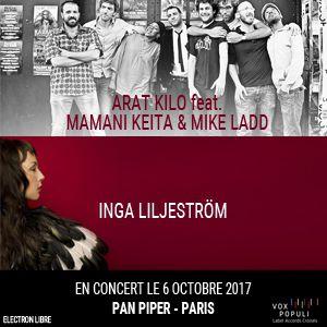 ARAT KILO & Guest / INGA LILJESTRÖM @ LE PAN PIPER - PARIS