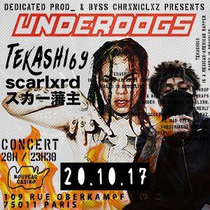 Billets UNDERDOGS#2 : Teka$hi69 x Scarlxrd + guests / Concert - Le Nouveau Casino