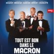 Théâtre Tout est bon dans le Macron à MENTON @ THEATRE FRANCIS  PALMERO - Billets & Places