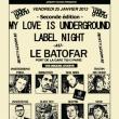 Soirée MY LOVE IS UNDERGROUND LABEL NIGHT à Paris @ Le Batofar - Billets & Places