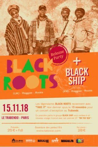 Billets BLACK ROOTS + Black Ship - Le Trabendo