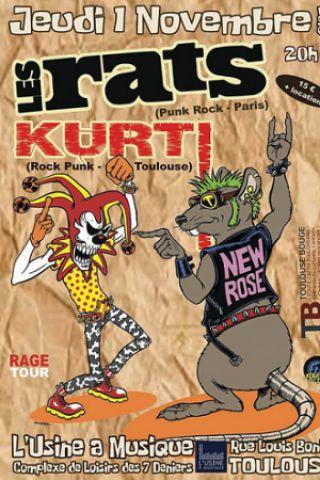 Concert LES RATS à TOULOUSE @ L'Usine à Musique - Billets & Places