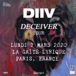 Concert DIIV + CHASTITY à Paris @ La Gaîté Lyrique - Billets & Places