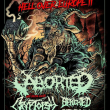 Concert HELL OVER EUROPE : ABORTED + CRYPTOPSY + BENIGHTED + CYTOTOXIN