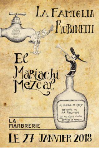 Concert La Famiglia Rubinetti & Mariachi Mezcal à MONTREUIL @ La Marbrerie - Billets & Places