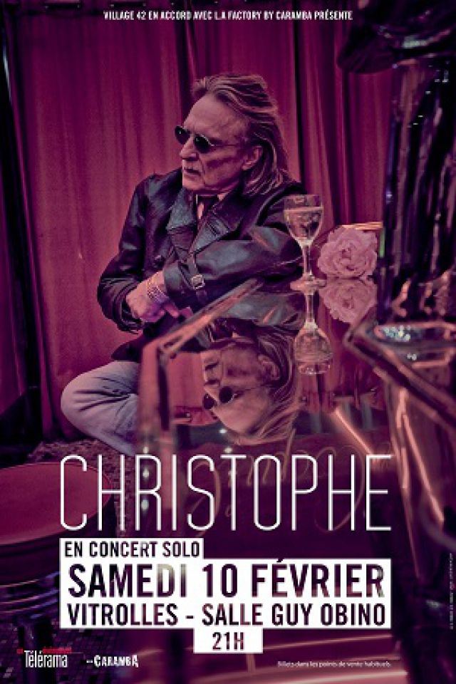 CHRISTOPHE - en solo @ Salle Guy Obino - VITROLLES