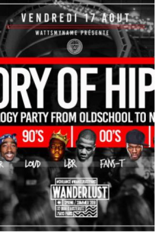 Billets History Of Hip Hop au Wanderlust - Wanderlust