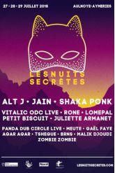 Festival Les Nuits Secrètes 2018 - PASS 2 SCENES - VENDREDI