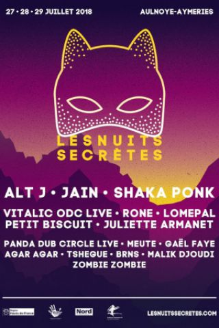 Billets Festival Les Nuits Secrètes 2018 - PASS 2 SCENES - SAMEDI - Grande Scène + l'Eden