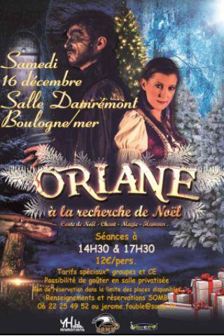 """Billets SPECTACLE ORIANE """"à la recherche de NOEL"""" (14h30) - Salle Damrémont"""