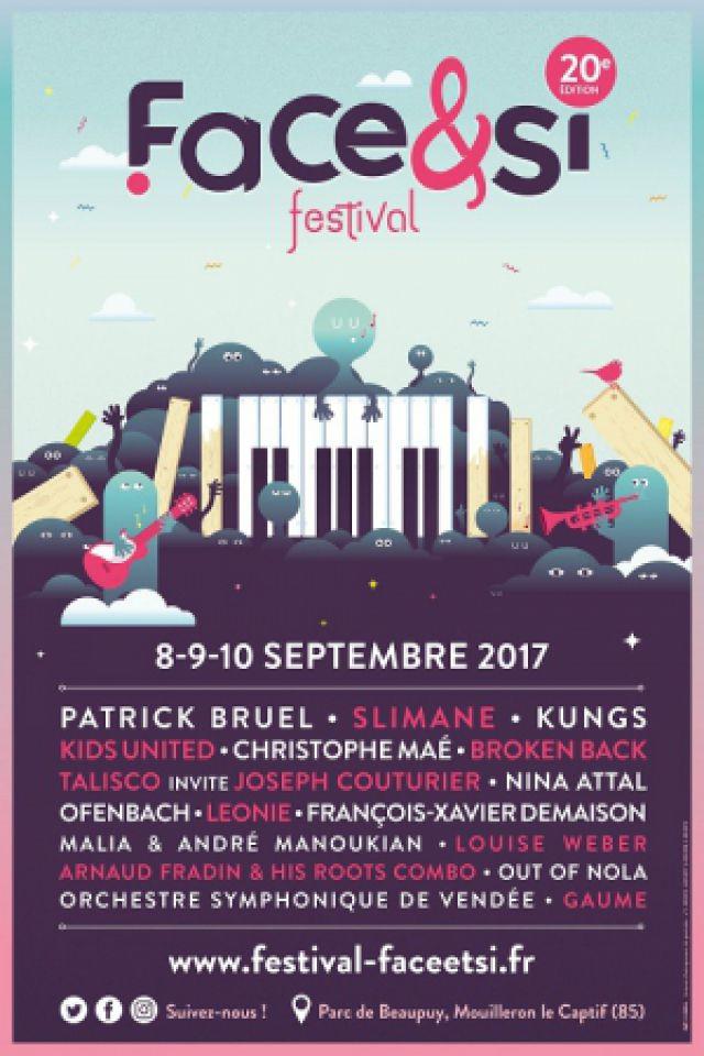 Festival Face & Si 2017 / Patrick BRUEL+SLIMANE+OFENBACH+LEONIE @ Parc de Beaupuy - MOUILLERON LE CAPTIF