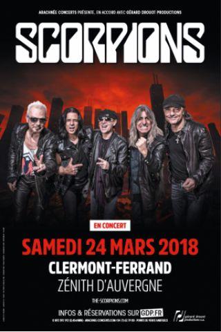 Concert SCORPIONS à  Cournon @ Zénith d'Auvergne - Billets & Places