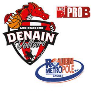 PRO B - VOLTAIRE vs ROUEN @ Complexe Sportif Jean Degros - DENAIN
