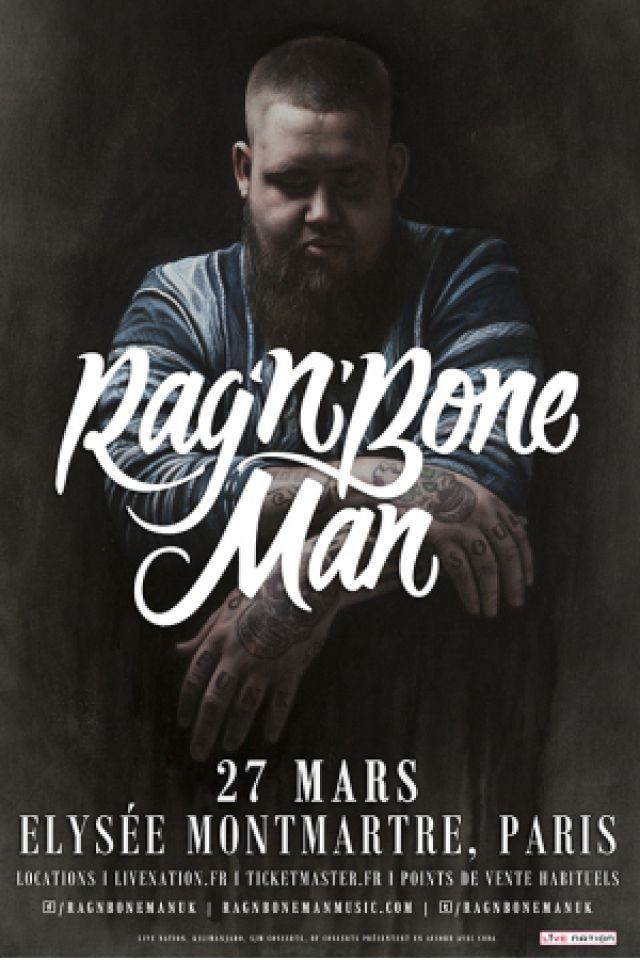 Concert RAG'N'BONE MAN à PARIS @ ELYSEE MONTMARTRE - Billets & Places