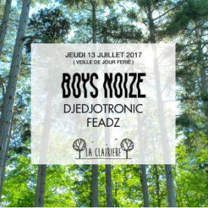Soirée BOYS NOIZE DANS LE BOIS à PARIS @ LA CLAIRIÈRE - Billets & Places