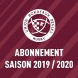 Match ABONNEMENTS UBB SAISON 2019/2020
