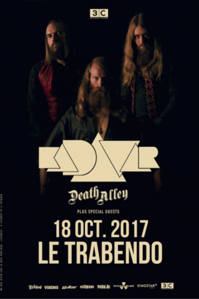 KADAVAR + MANTAR + DEATH ALLEY @ Le Trabendo - Paris