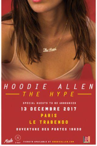 Concert HOODIE ALLEN - THE HYPE TOUR à Paris @ Le Trabendo - Billets & Places