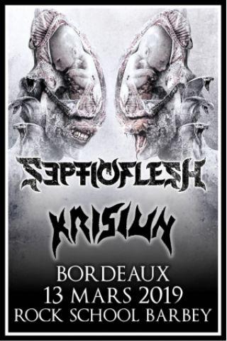 Concert SEPTICFLESH + KRISIUN + guests à BORDEAUX @ Rock School Barbey  - Billets & Places